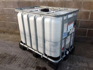 600 Litre Clear Hdpe Ibc Bulk Container Vertical Bars